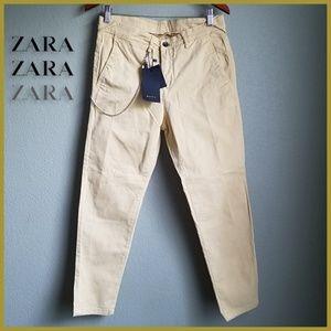 Zara Man Carrot Cropped Pants